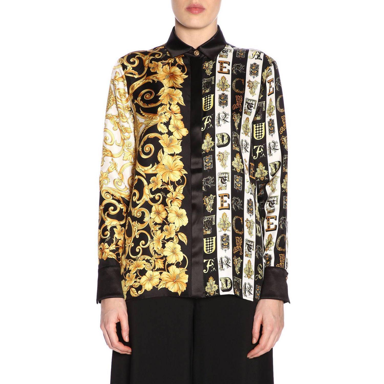 1933766c1aef61 Lyst - Versace Shirt Women in Black