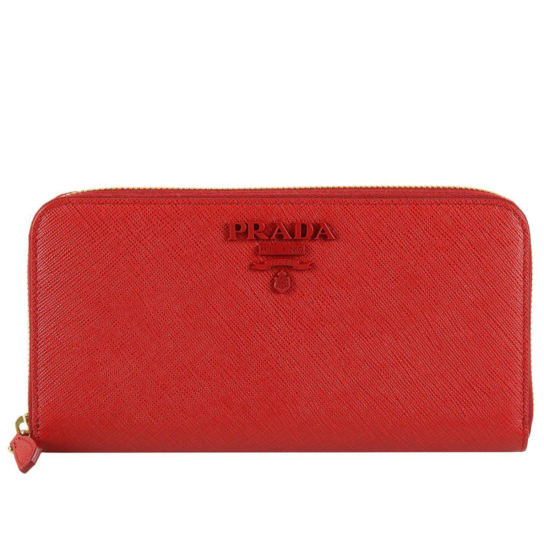 a7fd84fc240e ... promo code for prada red wallet women lyst. view fullscreen e0268 87edf