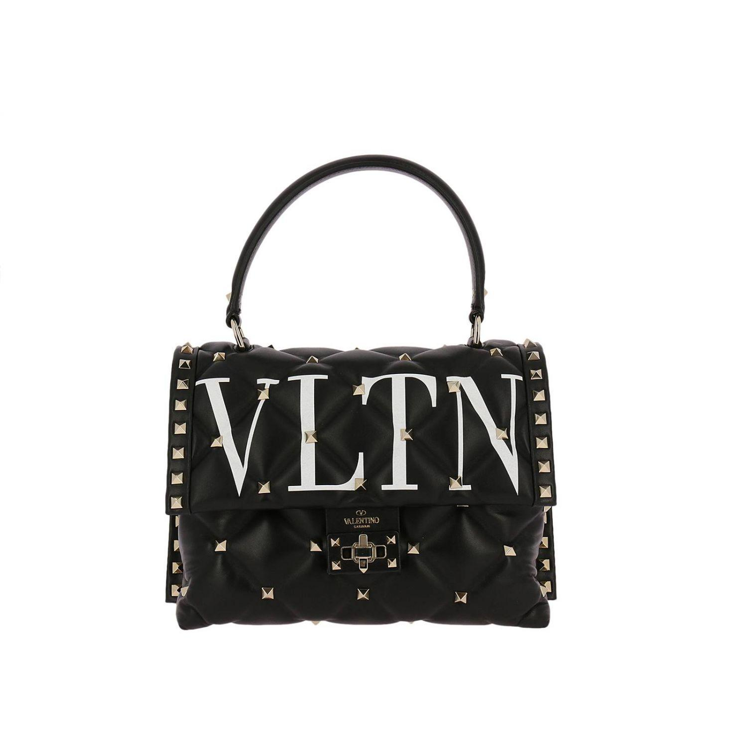 Valentino VLTN Smooth Leather Chain Shoulder Bag cmoFB