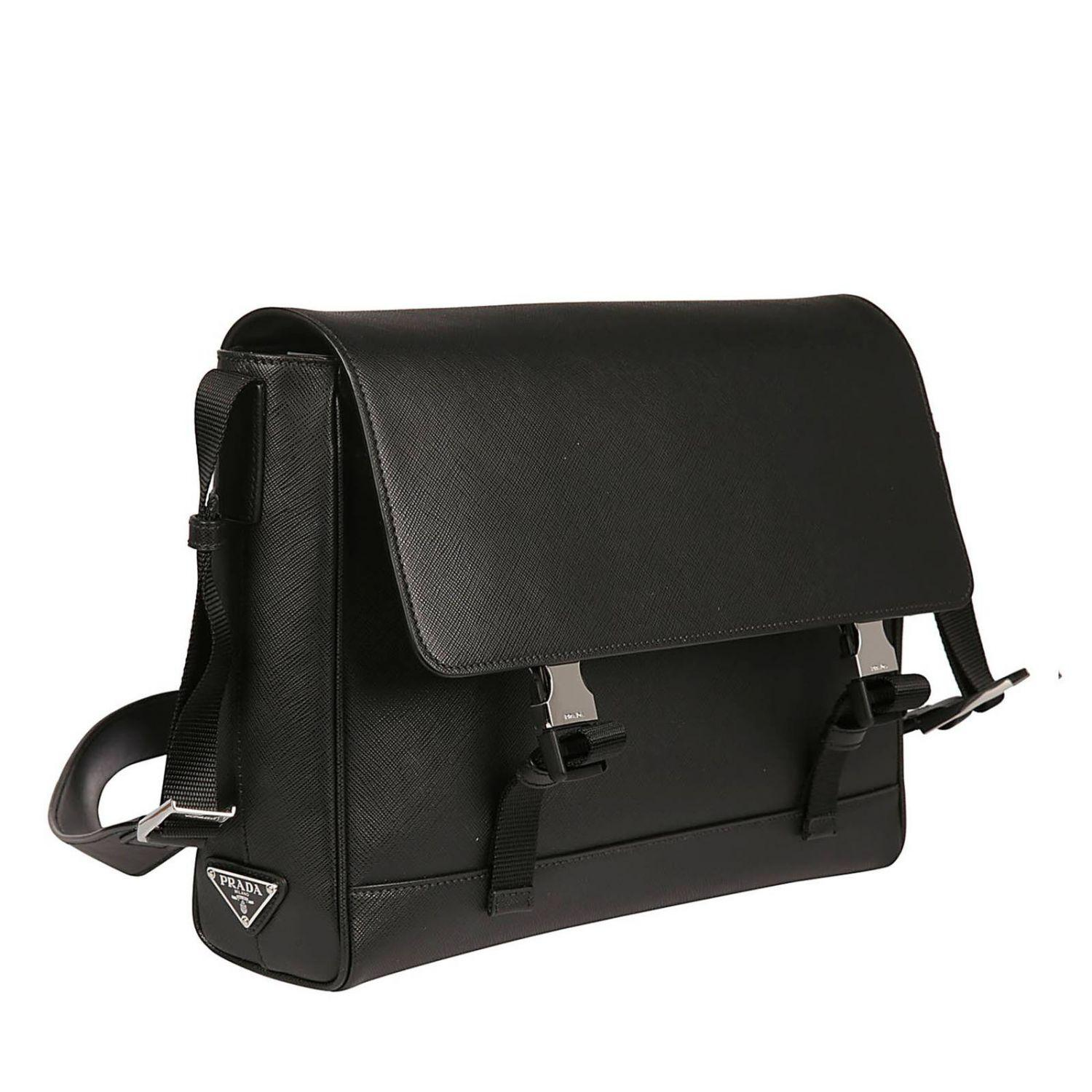 a86fcbbf1444e1 Prada - Black Shoulder Bag Men for Men - Lyst. View fullscreen