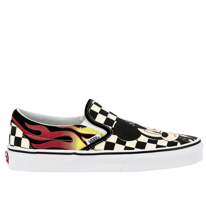 c7663b7c52 Vans - Multicolor Disney X Mickey   Minnie Classic Slip-on Womens Shoes -  Lyst
