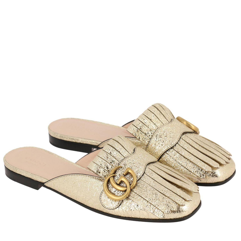 95b87033e Gucci Ballet Flats Shoes Women in Metallic - Lyst