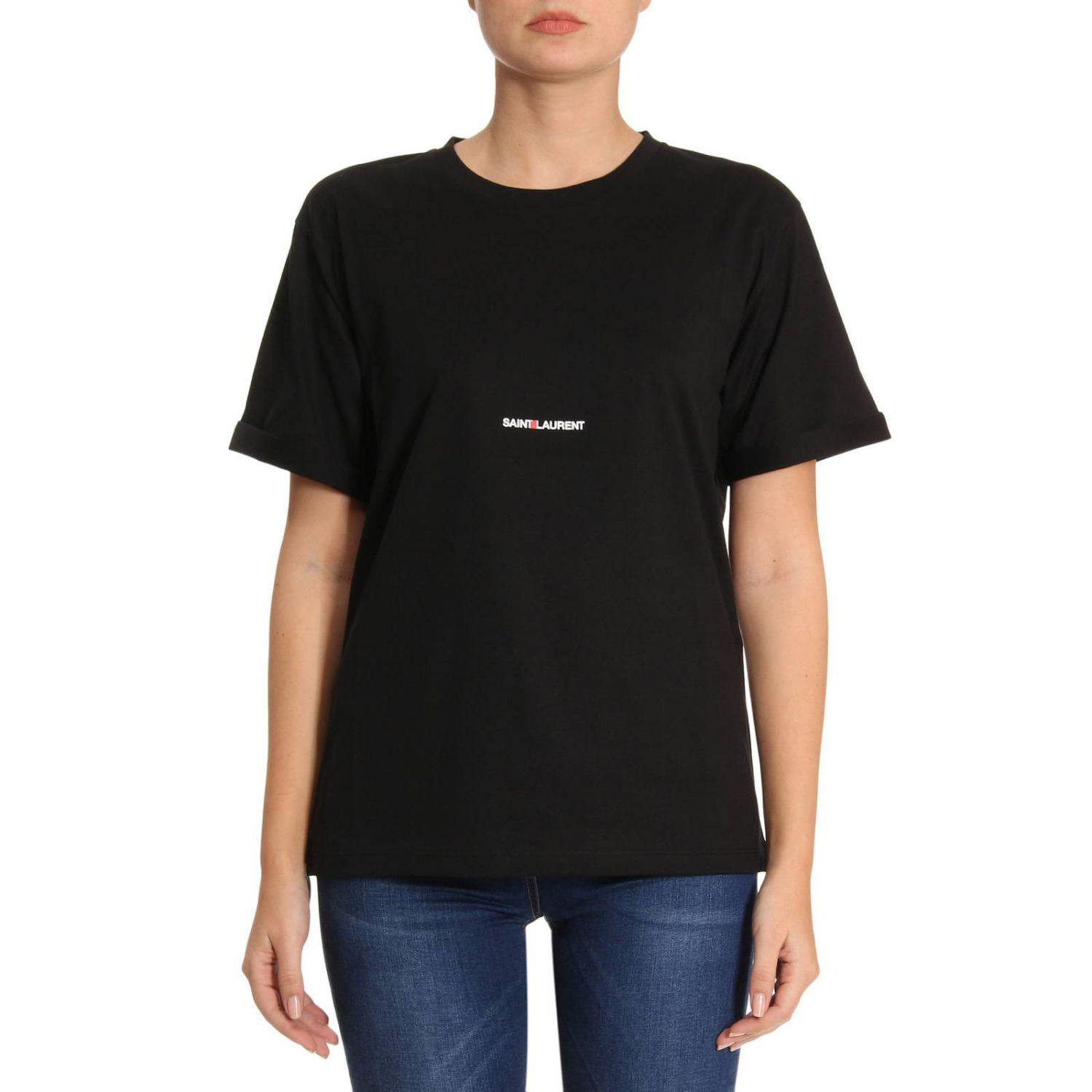 lyst saint laurent t shirt women in black
