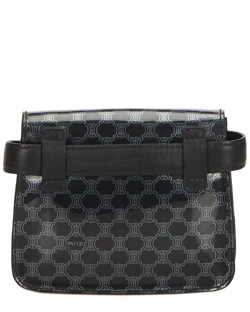 cb76196c4ac6 Lyst - Céline Black Macadam Patent Leather Belt Bag