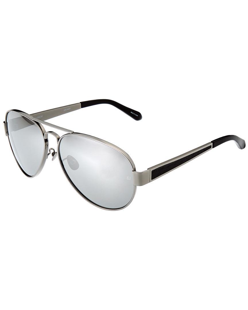 fa2621427e Linda Farrow Women s Lfl306c2sun 62mm Sunglasses in White - Lyst