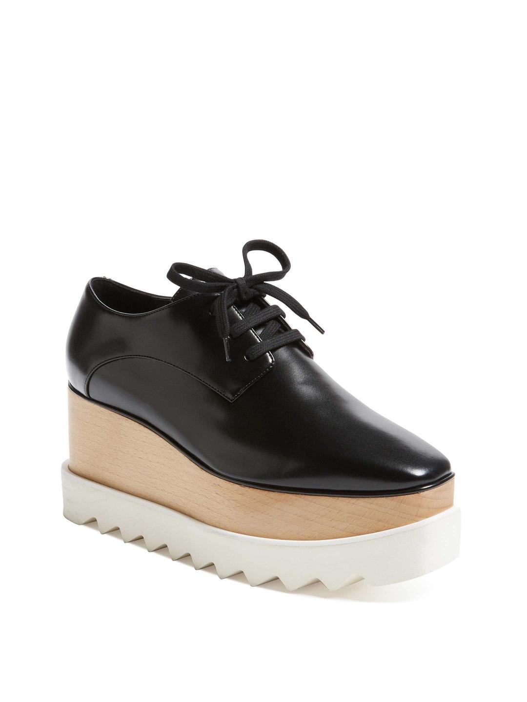 Stella McCartney. Women's Black Elyse Faux Leather Platform