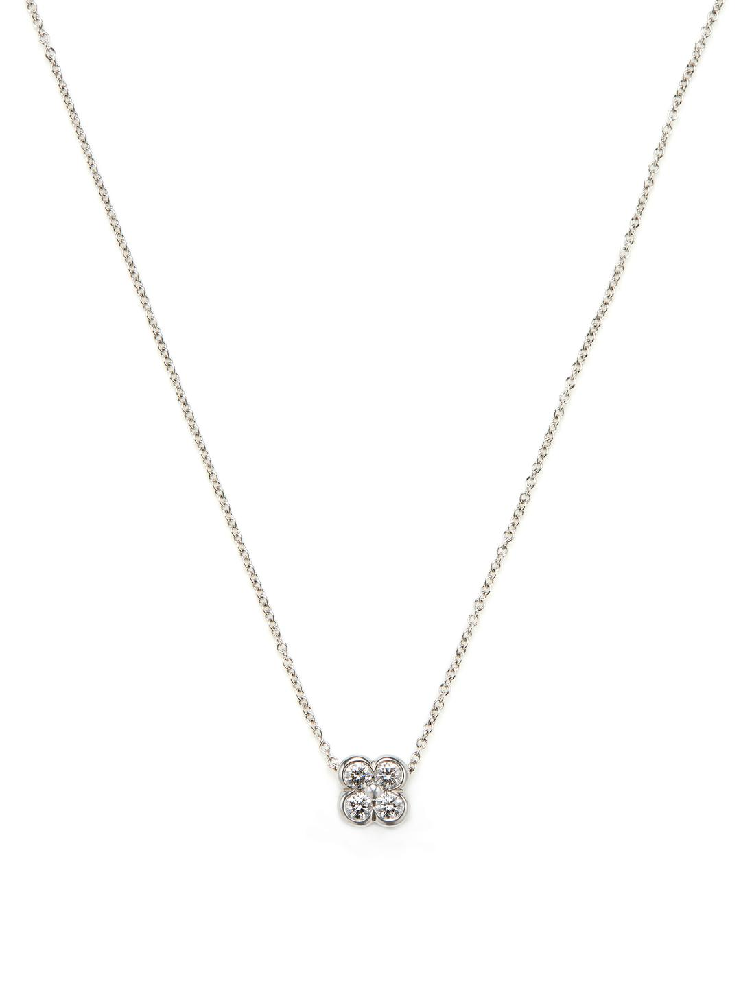 pendant diamond set cross white gold bezel in