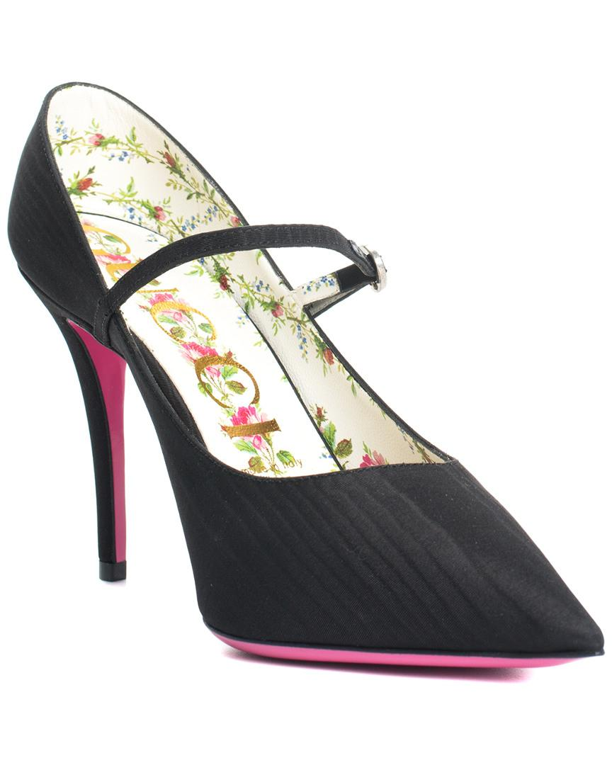 fde8fbfce Lyst - Gucci Black Jeweled Mary Jane Pump (size 39.5, Never Worn) in ...
