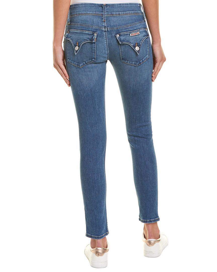ad79a569287 Hudson Jeans Collin Delphinium Skinny Leg in Blue - Lyst
