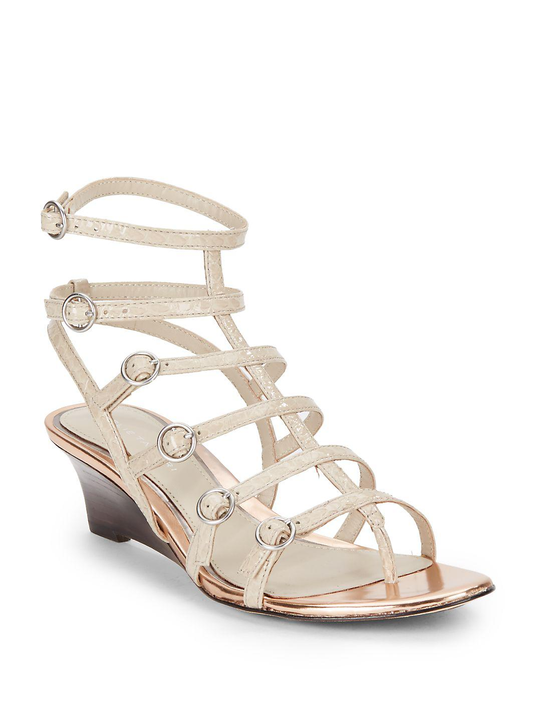 91a4b8a1a647 Lyst - Elie Tahari El-troy Gladiator Wedge Sandals