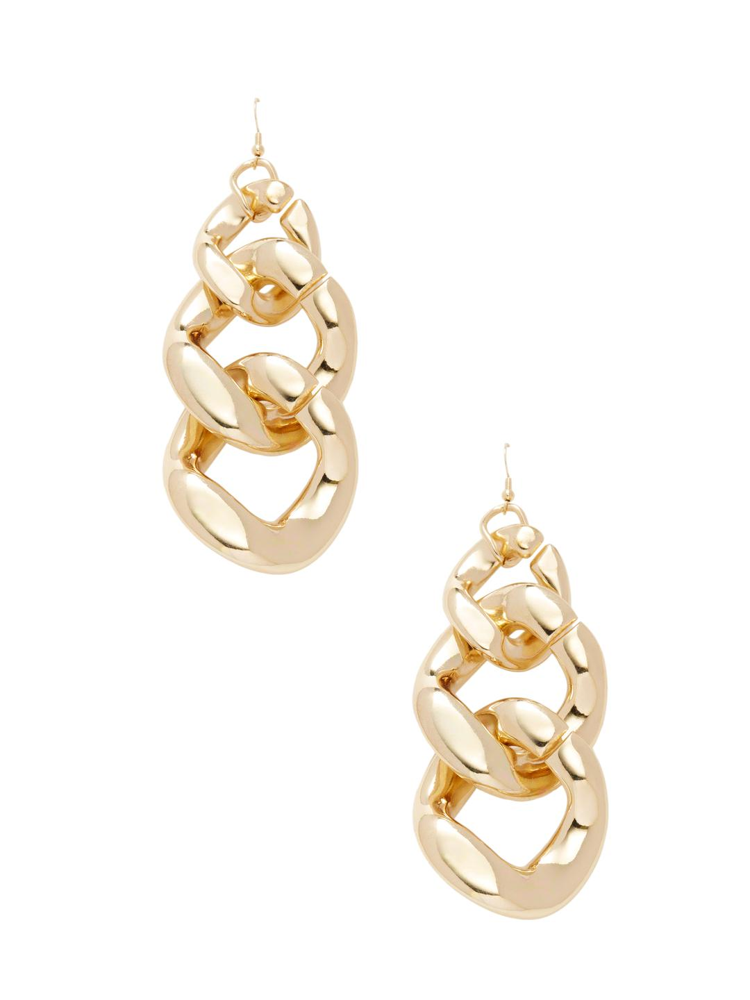 Kenneth Jay Lane Polished Gold Fish Hook Earrings Polished gold pNlan