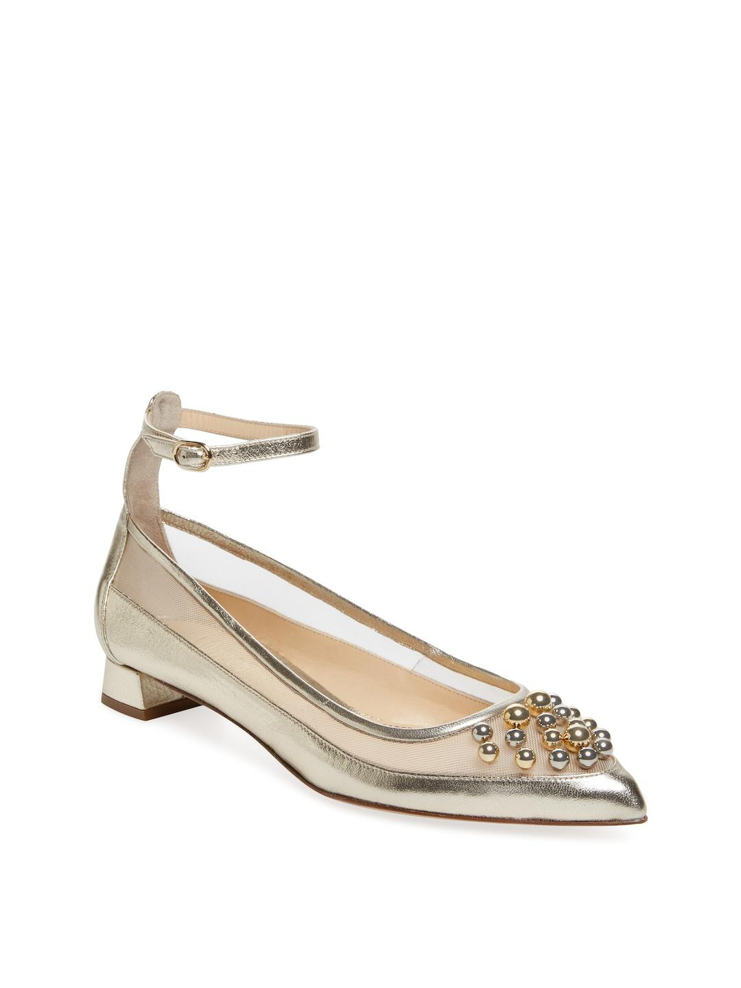 sale official site order Jerome C. Rousseau Embellished Pointed-Toe Flats clearance very cheap discount exclusive discount low cost VvcAeGfk