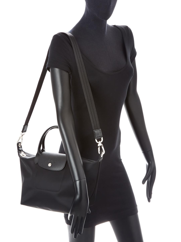0e72189a52808 Lyst - Longchamp Le Pliage Neo Small Top Handle in Black