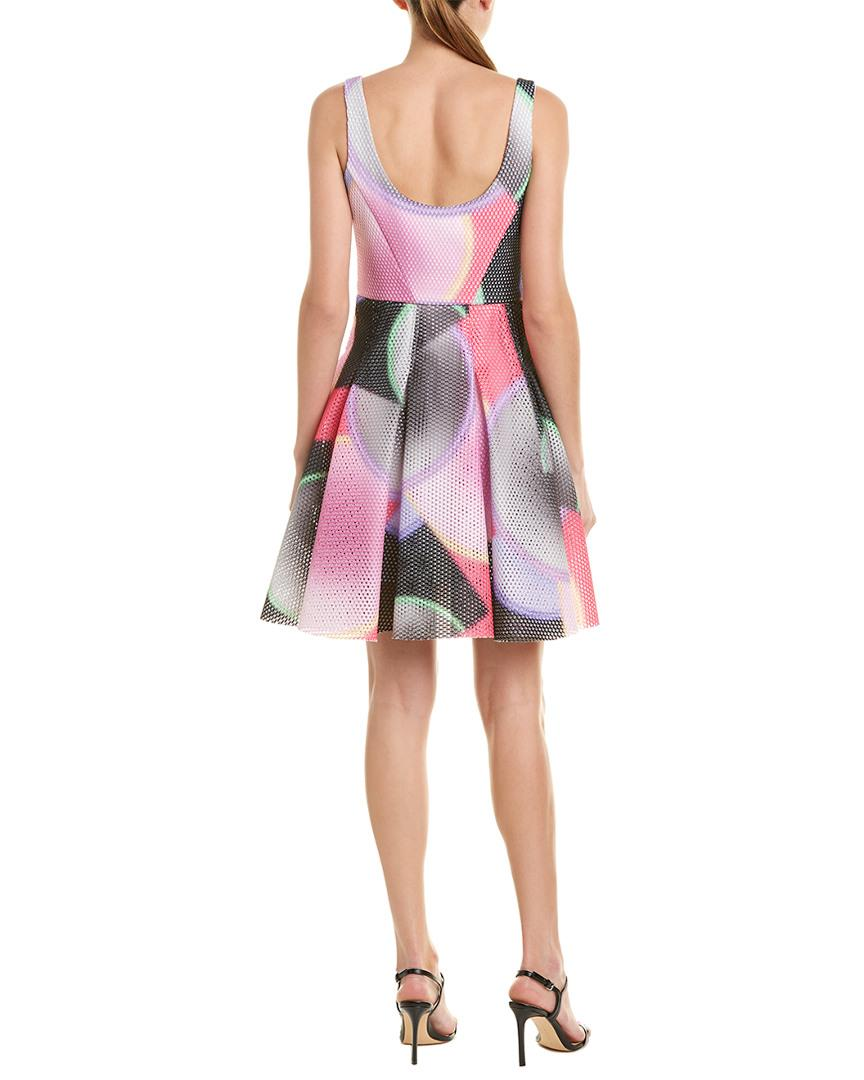 74612008f1 Lyst - Milly Mesh A-line Dress in Pink