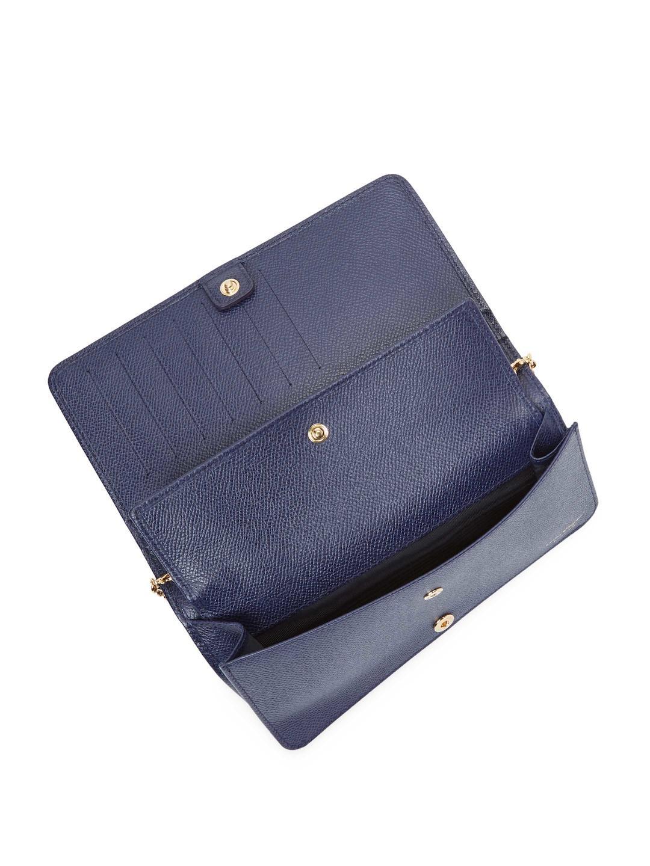6e5aa305312f Ferragamo - Blue Reversible Leather Clutch - Lyst. View fullscreen