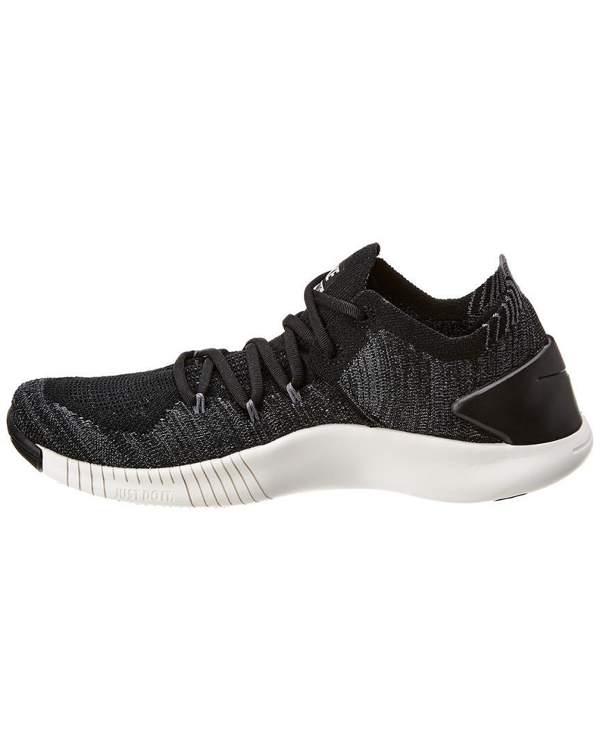 2df2a2b5a2ed Lyst - Nike Free Tr Flyknit 3 Mesh Sneaker in Black
