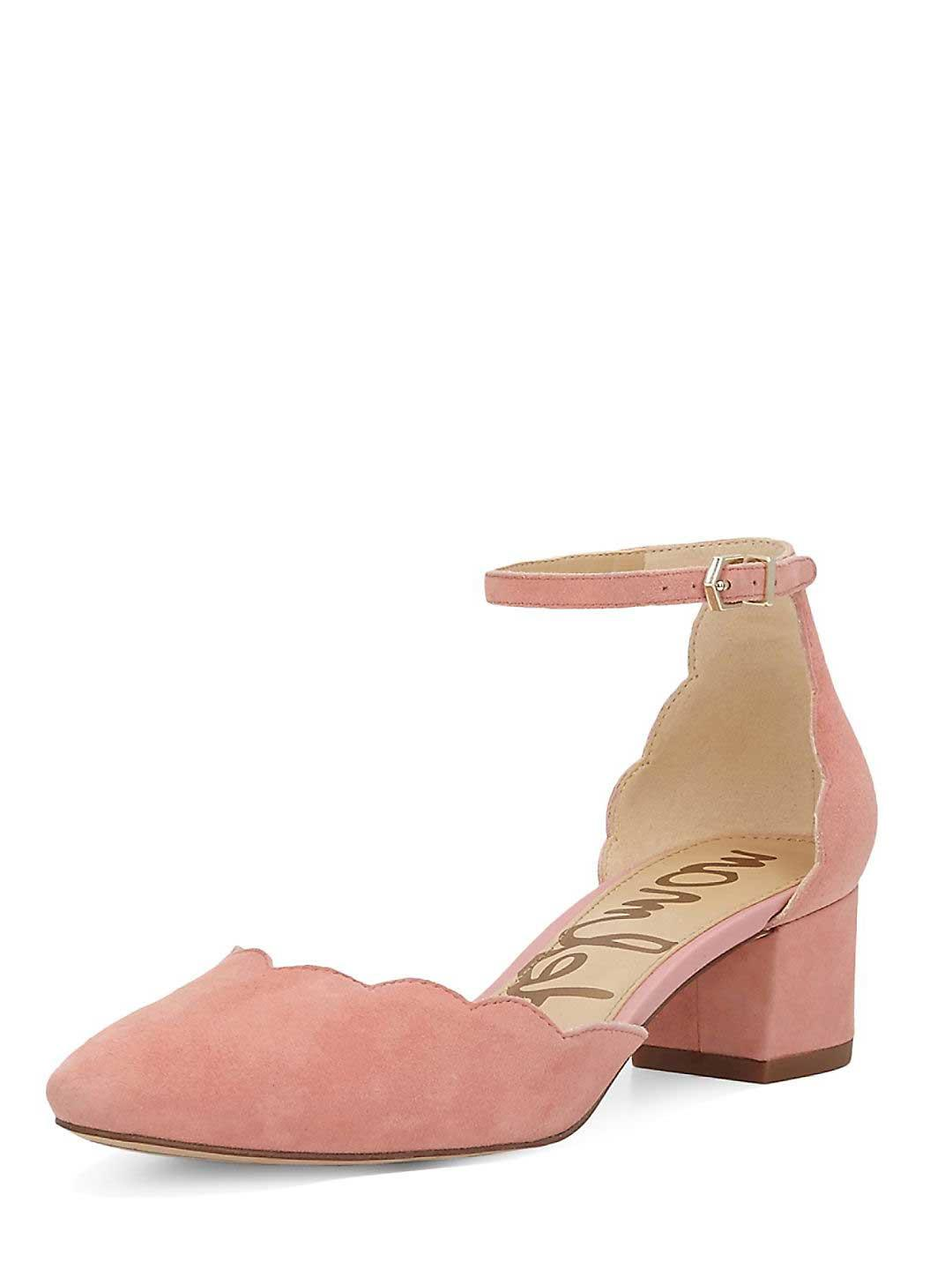da32aafc3ac2 Lyst - Sam Edelman Lara Suede Scalloped Pump in Pink