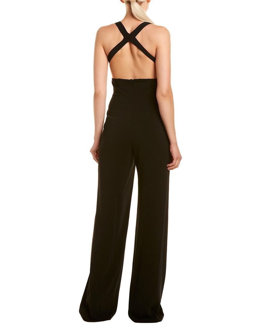 c05cfc18a4 Lyst - Jay Godfrey Deep-v Cross-back Jumpsuit in Black - Save 48%
