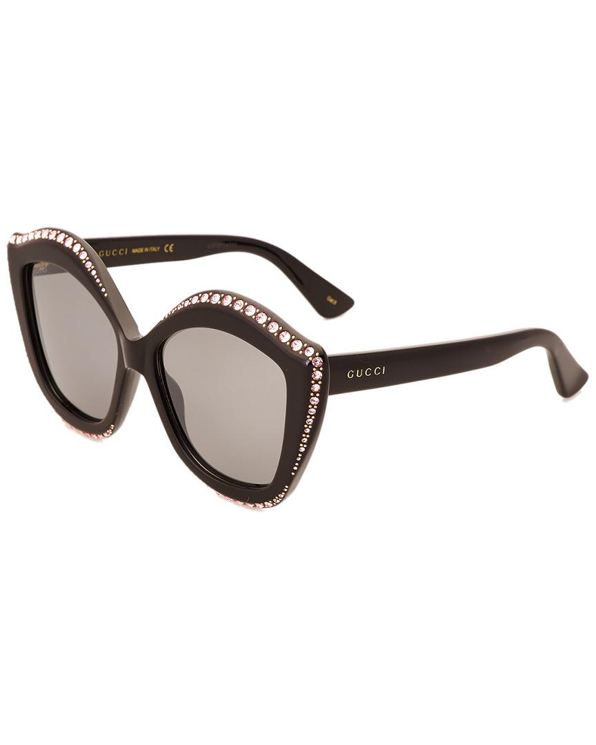 e904e86333 Gucci - Multicolor Women s GG0118 53mm Sunglasses - Lyst. View fullscreen