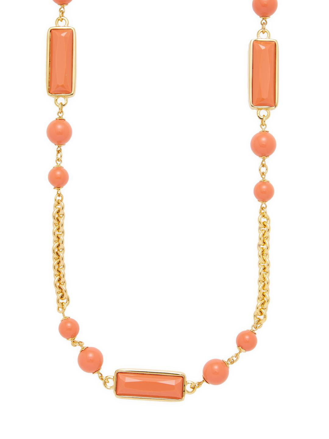 Kenneth Jay Lane Gold And Medium Coral Bib Necklace Medium coral ga5iVTf