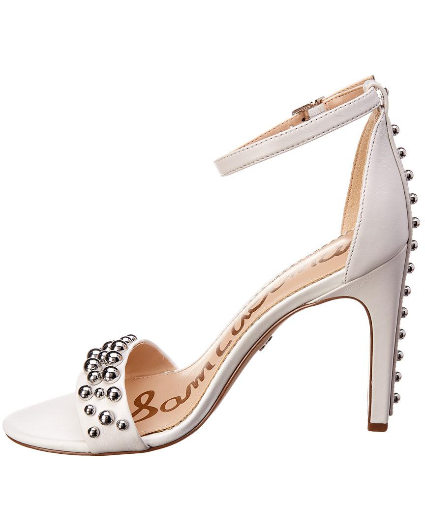a83610a84389 Lyst - Sam Edelman Yoshi Leather Sandal in White