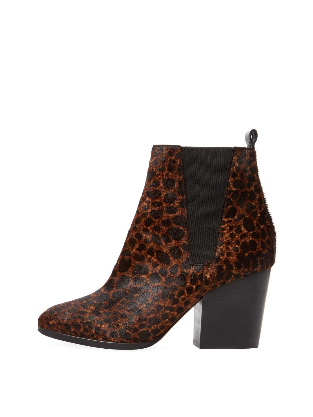 90fc673c54a5 The Kooples Pony Hair Ankle Bootie in Brown - Lyst