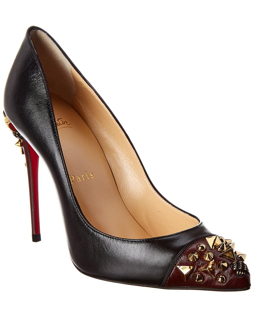 42a59ce039 Christian Louboutin Edo 115 Studded Leather Pump in Black - Save 1 ...