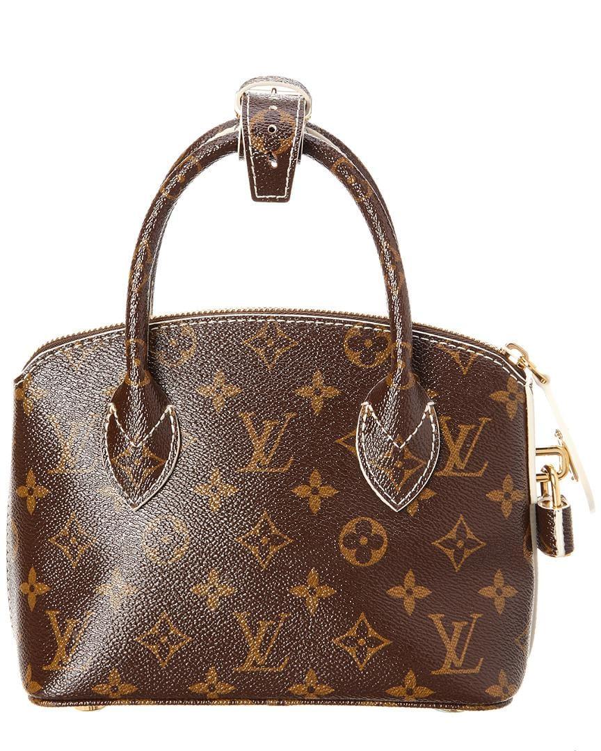3fe7c18efe0f Lyst - Louis Vuitton Monogram Canvas Fetish Lockit Bb in Brown