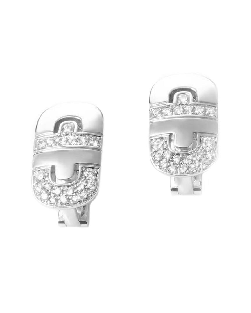 acba68883 BVLGARI Parentesi 18k 1.32 Ct. Tw. Diamond Earrings in Metallic - Lyst