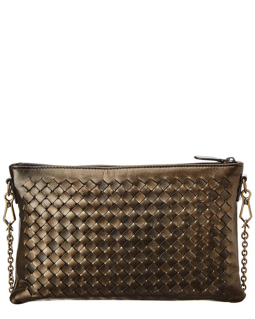 bd77d378edba Bottega Veneta Biletto Intrecciato Leather Wallet On Chain in ...