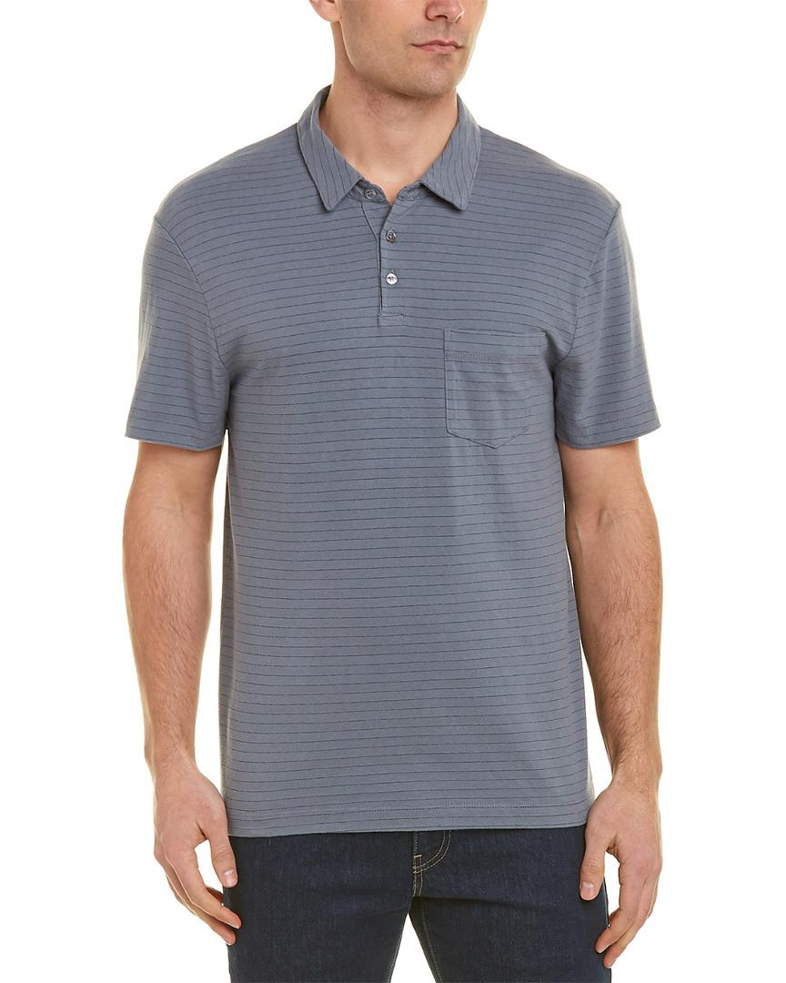 39ee74e72bab James Perse Pocket Polo Shirt in Gray for Men - Lyst