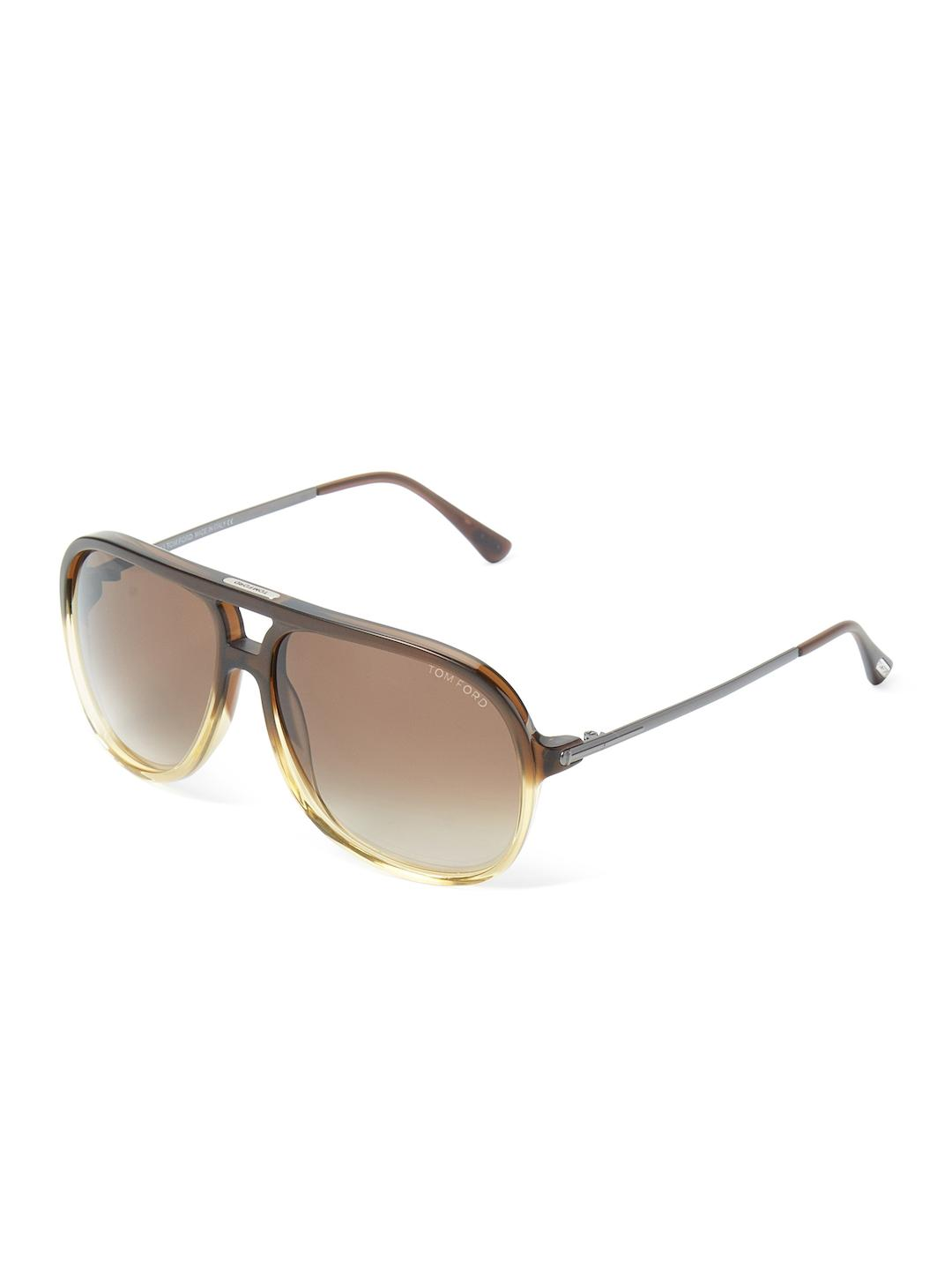 84c4458b734 Lyst - Tom Ford Damian Square Aviator Frame in Brown
