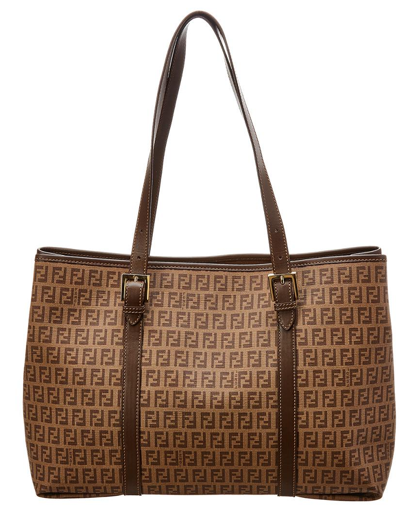 5a480ab7ab Fendi Brown Zucchino Canvas Tote in Brown - Lyst