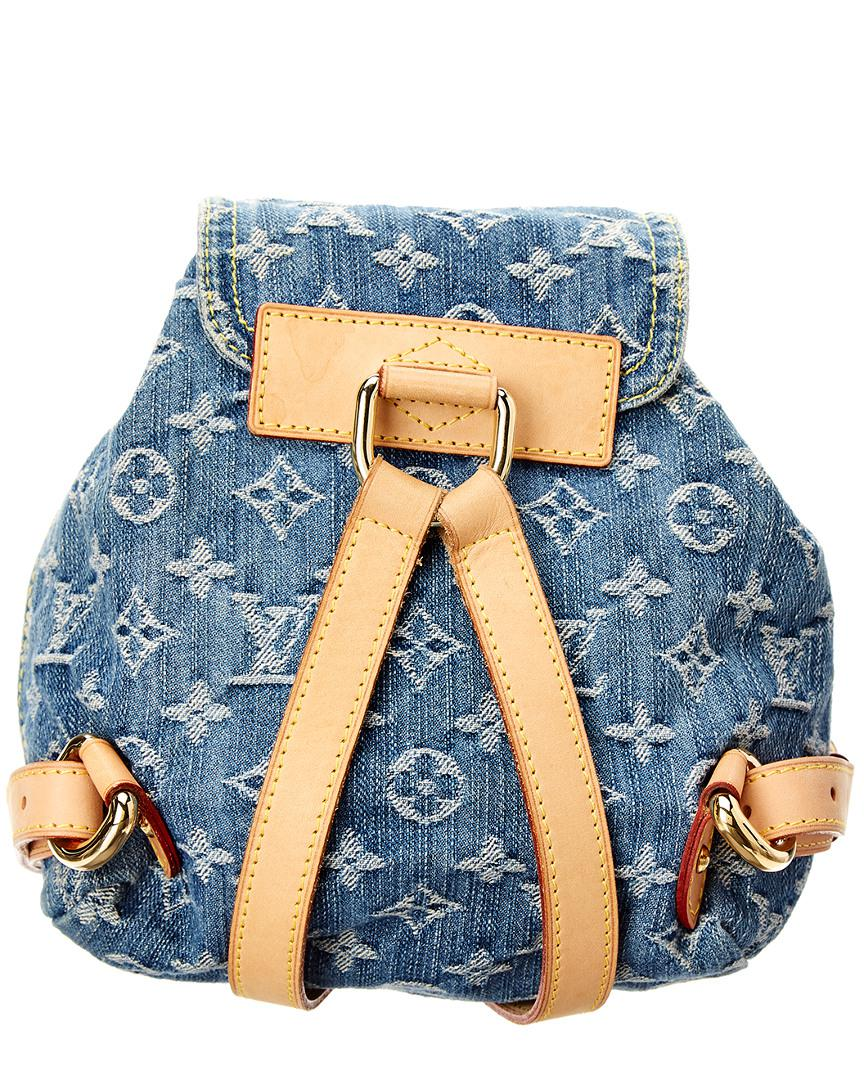 524bc63a3d64 Lyst - Louis Vuitton Blue Monogram Denim Sac A Dos Pm in Blue - Save 9%