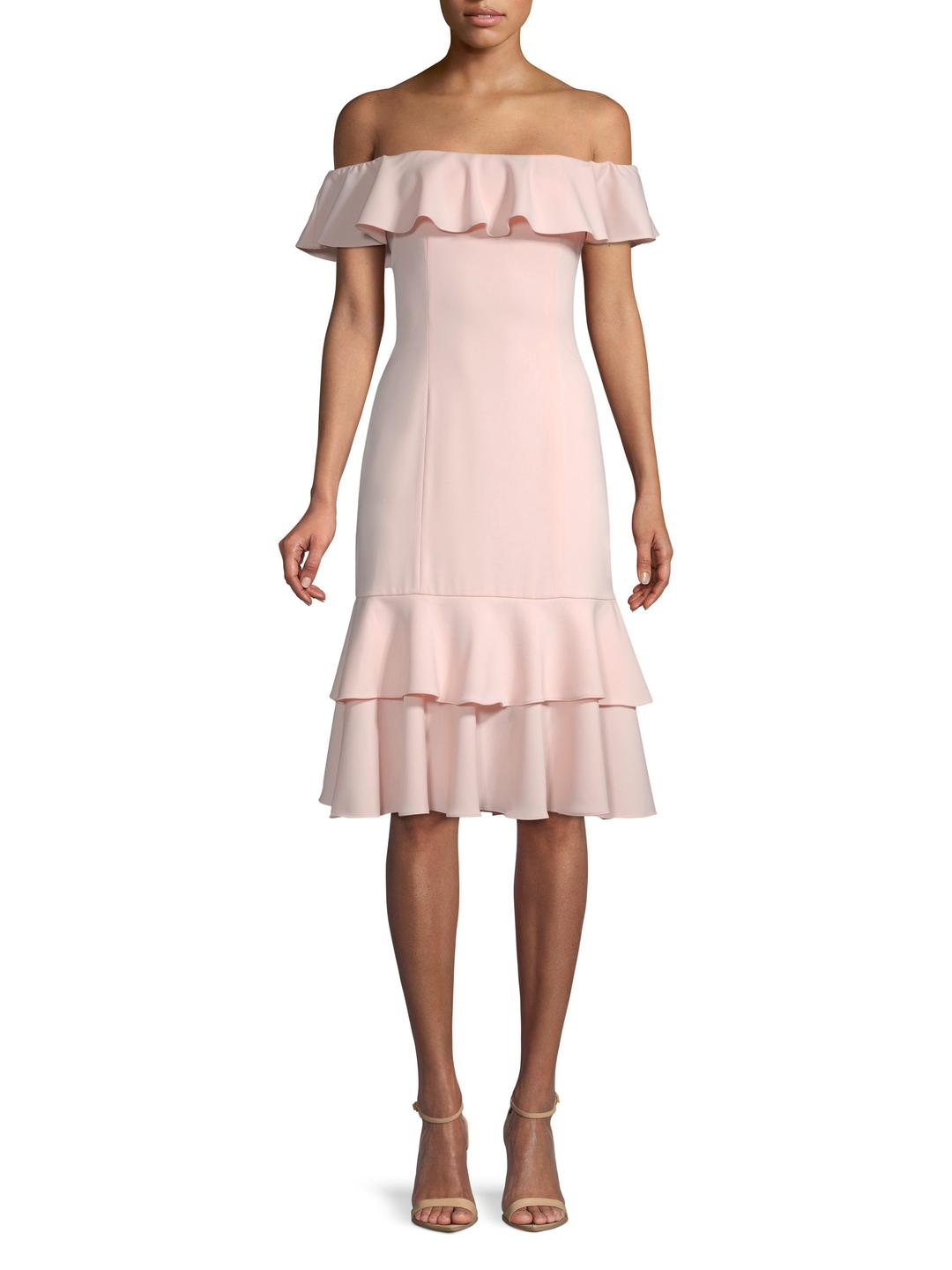 69e69980a5687 Lyst - Jay Godfrey Off-the-shoulder Ruffle Dress in Pink