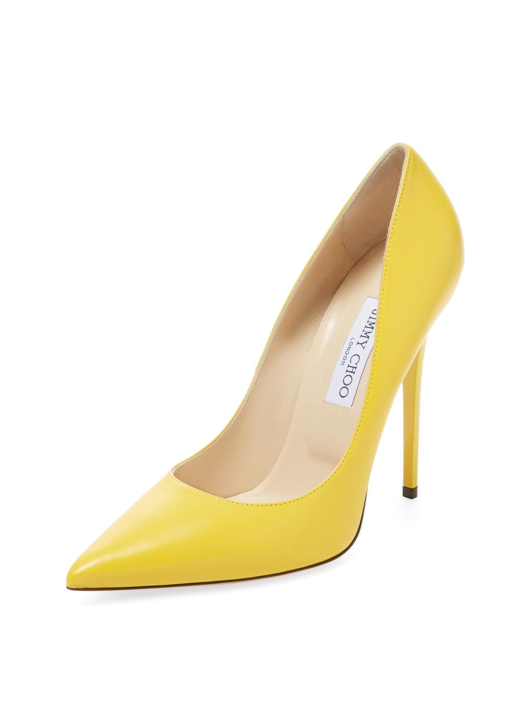 6dcc91c298a3 Gallery. Previously sold at  Gilt · Women s Pointed Toe Pumps Women s Yellow  Heels Women s Jimmy Choo Anouk ...