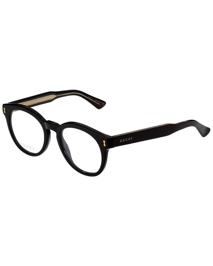 1b974bccc04 Lyst - Gucci Unisex GG0185O-30001751005 50mm Optical Frames in Black