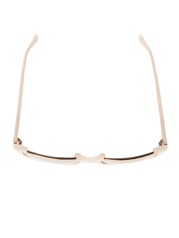 ece665d04a12 Lyst Linda Farrow Tinted Saddle Nose Bridge Rectangular Frame In Pink