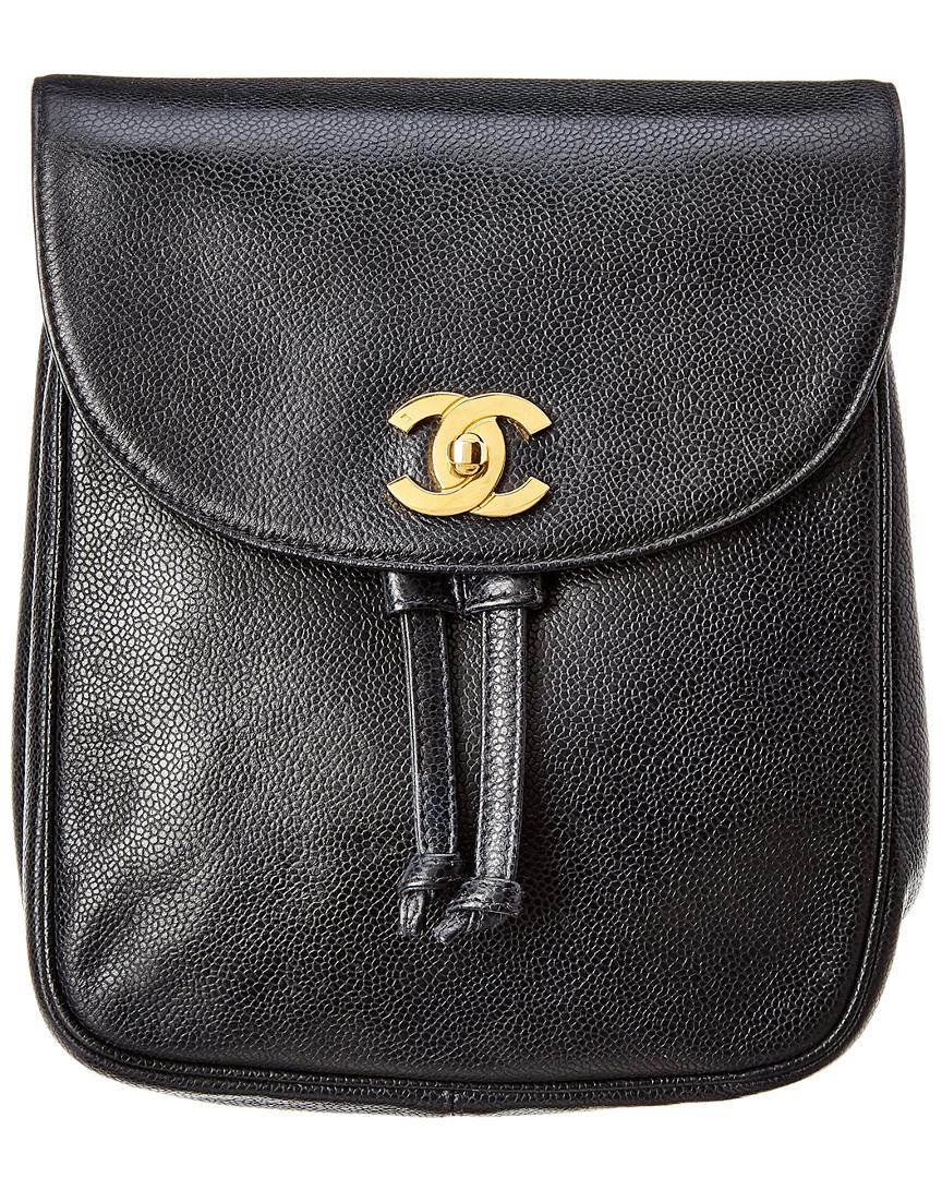 d88a0768e385 Chanel Black Caviar Leather Backpack in Black - Lyst