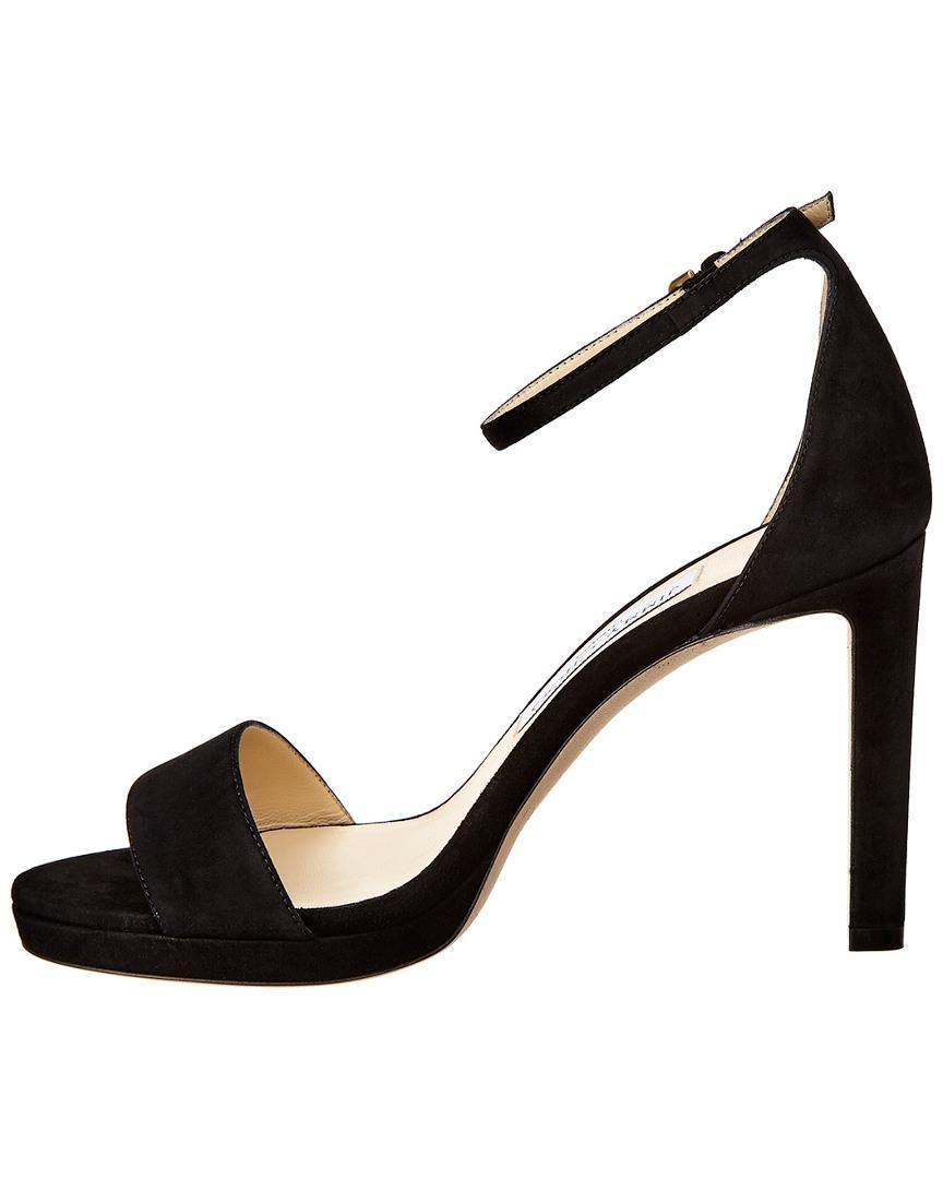 ad180951a4d2 Lyst - Jimmy Choo Misty 100 Suede Sandal in Black