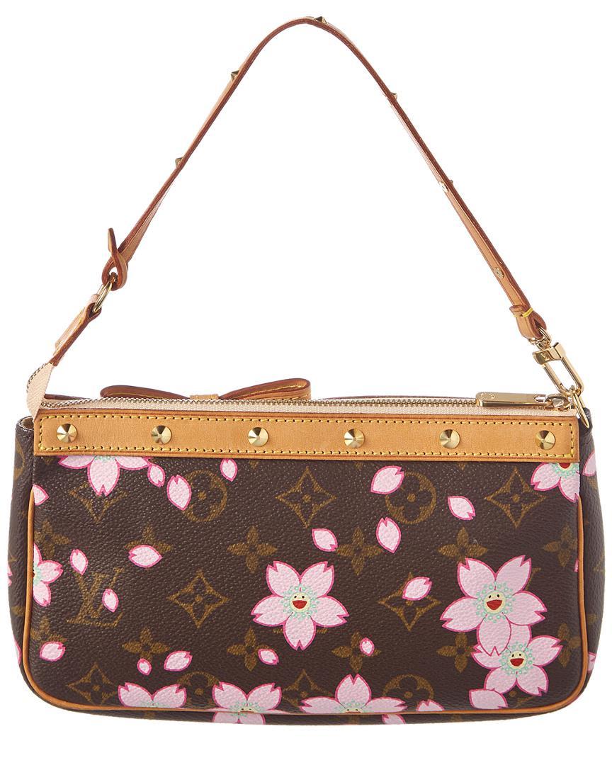 Louis vuitton limited edition takashi murakami cherry blossom monogram  canvas pochette lyst jpg 864x1080 Cherry blossom 711388ee9a1e8