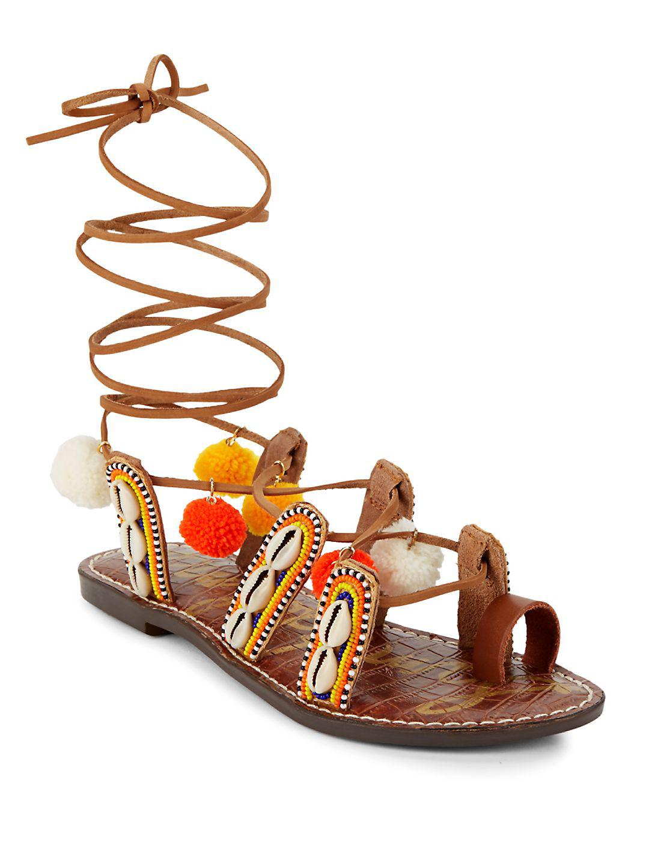 4c7e55146 Sam Edelman Lily Embellished Gladiator Sandals - Lyst