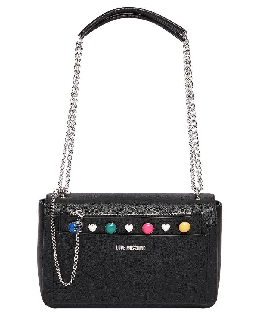 a11d7158a9b Love Moschino - Black Shoulder Bag - Lyst. View fullscreen