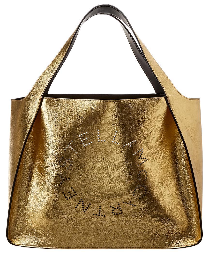 d1441dabdc Lyst - Stella Mccartney Small Metallic Logo Tote in Metallic