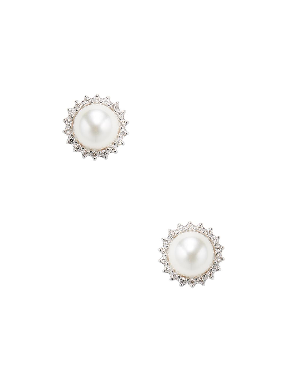 5fa7cd419 Lyst - Tara Pearls 14k White Gold, Japanese Akoya Cultured Pearl ...
