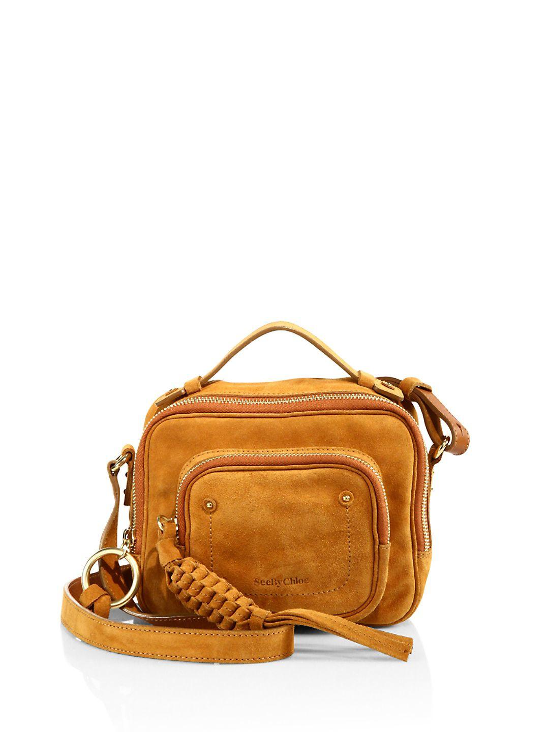 d92363b23871 Lyst - See By Chloé Patti Suede Camera Bag