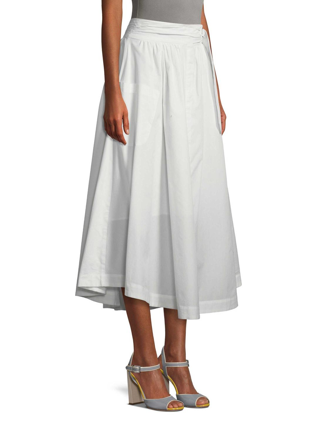 75ea454c47 Lyst - Free People Dream Of Me Midi Skirt in White