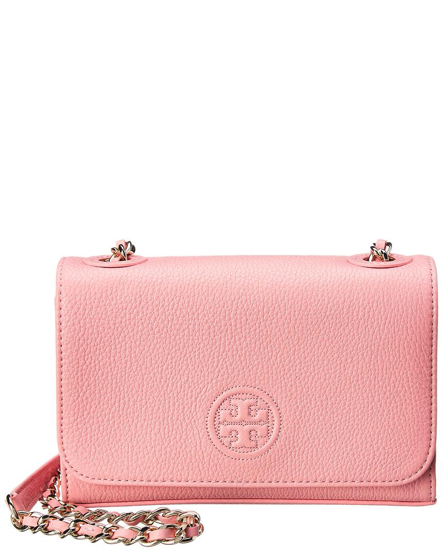 647c4425fc92 Lyst - Tory Burch Bombe Shrunken Small Leather Shoulder Bag in Pink