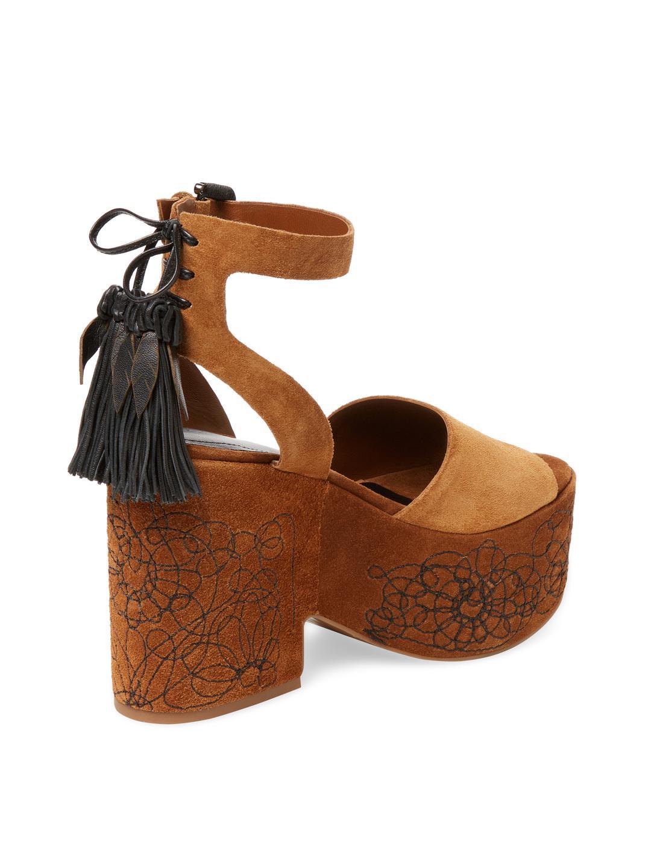 7a5bc1bd8b05 Lyst - Sigerson Morrison Beia Suede Platform Sandal in Brown