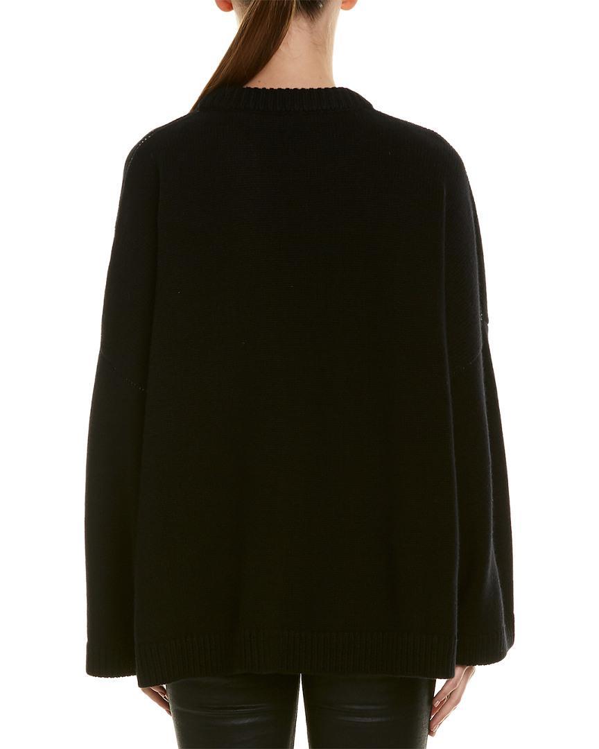 Lyst - Dolce   Gabbana Logo Cashmere Sweater in Black - Save 63% 99aefbbb3